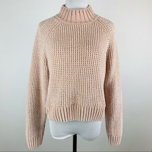 H&M Divided Light Pink Chenille Sweater Large
